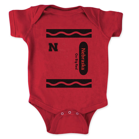 Crayon Nebraska Big Red Snap Tee