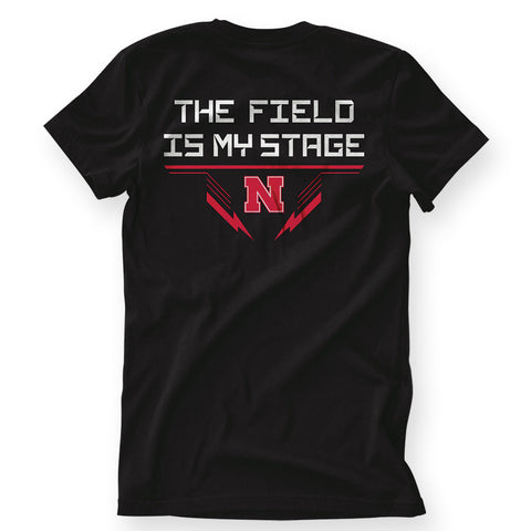Nebraska Youth Boys Football Tee by Red Zone