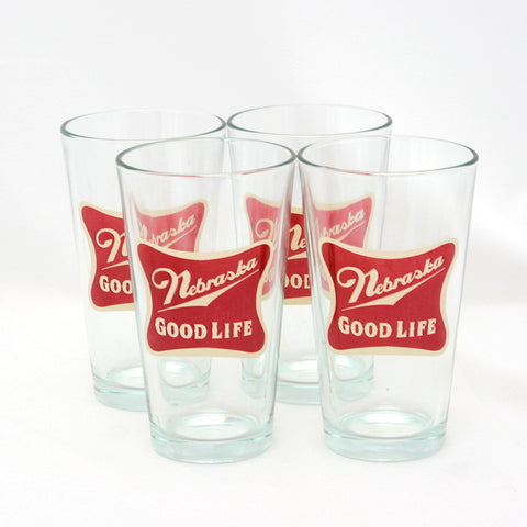 Nebraska The Good Life Pint Glasses