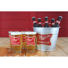 The Good Life Bucket and Pint Glass Set