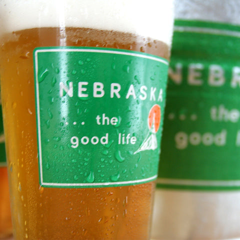 Welcome to Nebraska Bucket Glassware Set