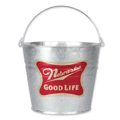 Nebraska Good Life Galvanized Beer Bucket