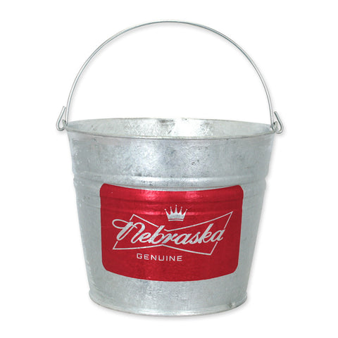 Nebraska Genuine Metal Beer Bucket