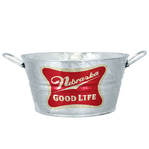 Nebraska, The Good Life Galvanized Metal Bucket