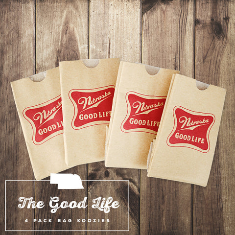 Nebraska Paper Bag Koozie