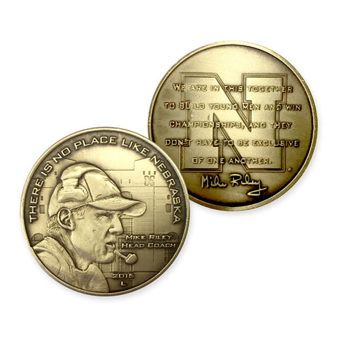 Nebraska Football Mike Riley Collector Coin