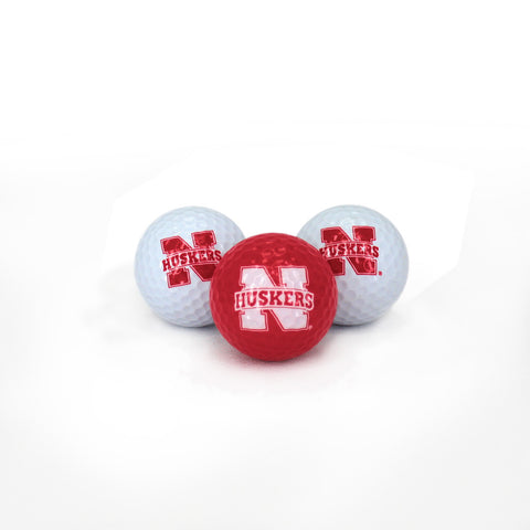 Nebraska Huskers 3 Pack Golf Balls