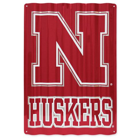 Nebraska Huskers Metal Sign Home Decor