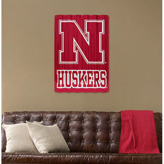 Nebraska Huskers Corrugated Metal Sign