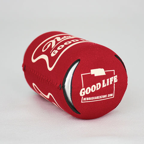 Nebraska Good Life Red Koozie