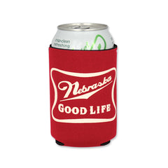 Nebraska Good Life Can Cooler Red