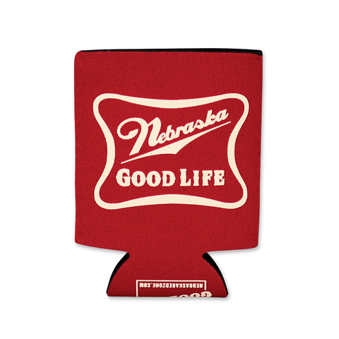 Nebraska Good Life Red Koozie Flat