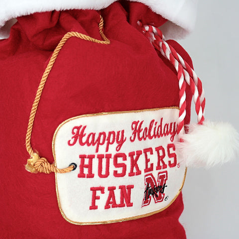 Nebraska Huskers Merry Christmas Santa Bag