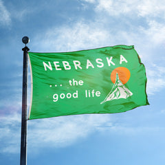Welcome to Nebraska Good Life Green Flag