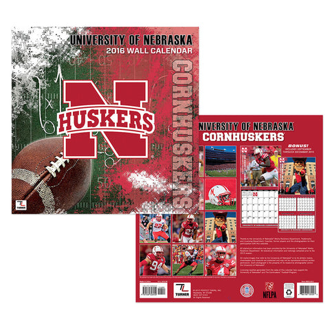 Nebraska Team 2016 Wall Calendar
