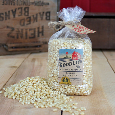 Nebraska Good Life White Popcorn Gift Bag