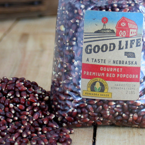 Nebraska Good Life Gourmet Big Red Popcorn