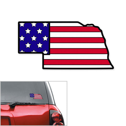 Good 'Ole Red, White & Blue Nebraska Decal