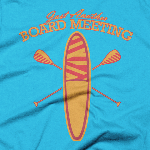 Men's Just Another Board Meeting Tee-Turquoise Detail