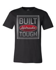 Built Nebraska Tough Tee by RZR - Black - SS