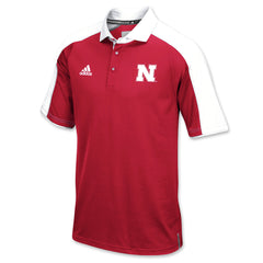 2016 Nebraska Football Coaches Polo by Adidas - SS - Red