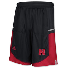 2016 Official Nebraska Player Shorts by Adidas - Black