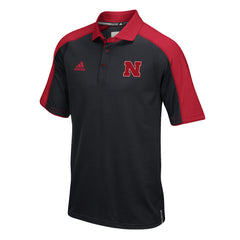 2016 Nebraska Football Coaches Polo by Adidas - SS - Black