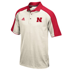 2016 Nebraska Football Coaches Polo by Adidas - SS - Cream
