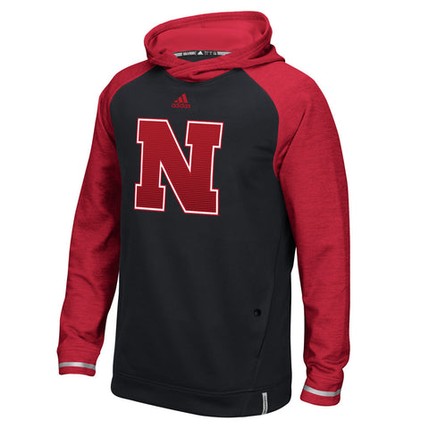 2016 Nebraska Huskers Player Hood by Adidas - Black - LS