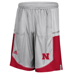 2016 Official Nebraska Player Shorts by Adidas - Grey