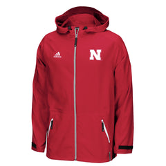 2016 Nebraska Huskers Woven 1/4 Zip Jacket by Adidas - Red - LS