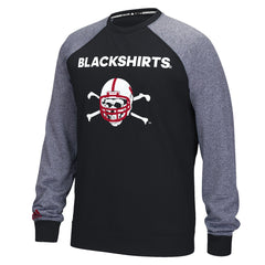 Blackshirts Ultimate Raglan Fleece Crew by Adidas - LS - Black