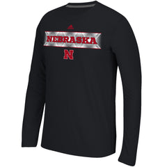 Nebraska Fractured Band Climalite Tee by Adidas - Black - LS