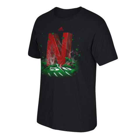 "Nebraska ""N"" High Impact Tee by Adidas - SS"