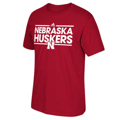 Nebraska Huskers Tee by Adidas - SS - Red