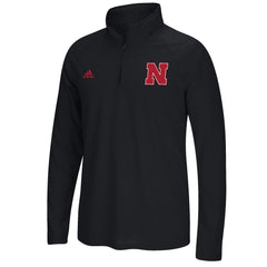 Husker Ultimate Climalite 1/4 Zip by Adidas - Black Heathered - LS