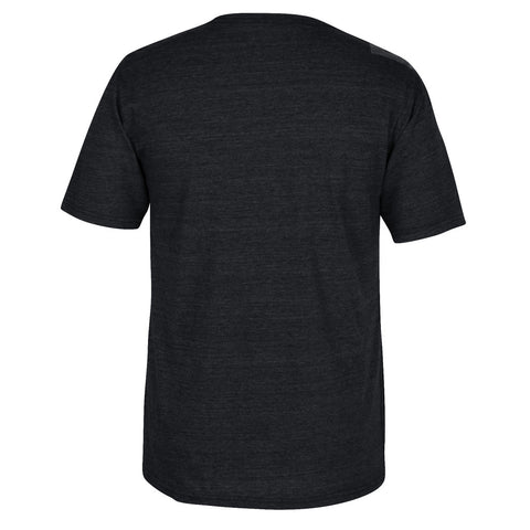 Blackshirts Husker Football Tri-Blend Dark Grey Adidas SS Tee Back