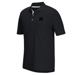 Nebraska Climacool Grid Golf Polo by Adidas - SS - Black