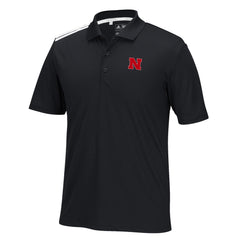 Nebraska Climacool 3-Stripes Golf Polo by Adidas - SS - Black