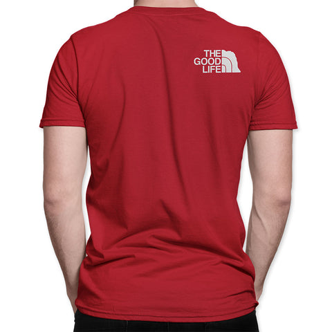 Nebraska The Good Life The North Face Style Tee Back