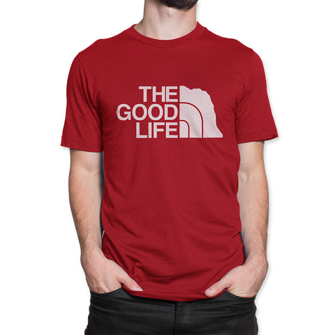 Nebraska The Good Life The North Face Style Tee Front