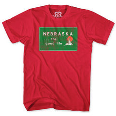 Welcome to Nebraska Tee - SS - Red
