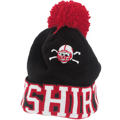 Cuffed Knit Nebraska Blackshirts Hat with Pom by Adidas