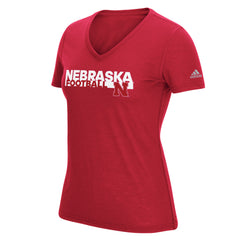 Nebraska Sideline Grind Football Tee by Adidas - SS - Red