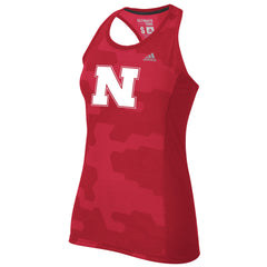 Nebraska Sunlight Camo Tank by Adidas - Red