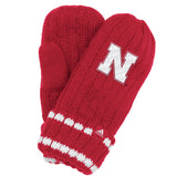Youth Girls Nebraska Mittens by Adidas - Red