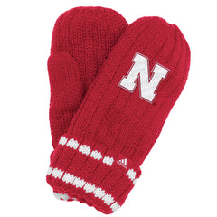 Women's Nebraska Mittens by Adidas - Red