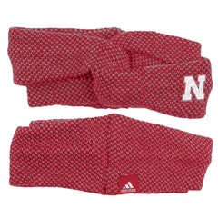 Women's Nebraska Turban Earband by Adidas - Red