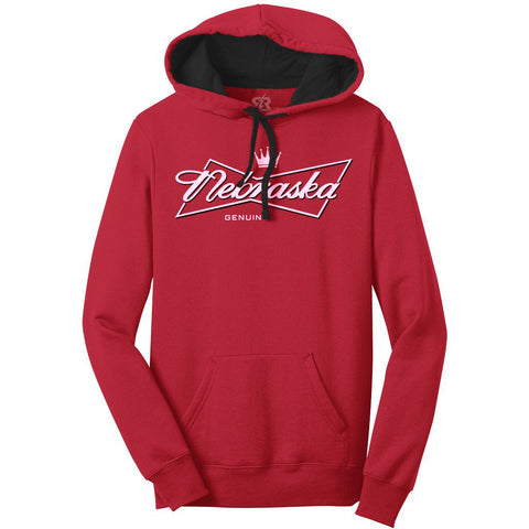 Men's Nebraska, This Hoody's For You by RZR - Red- LS