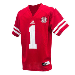 2016 Youth #1 Nebraska Huskers Jersey by Adidas - SS - Red